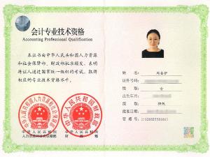 会计专业技术资格证书初级